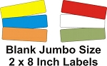 Extra Jumbo Size 2 x 8 Inch Blank Labels