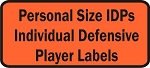 Personal Size Individual Defensive Players
