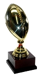 16 Inch Brass Football Trophy