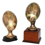 Antique Gold Resin Football Trophy