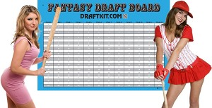 Baseball Combination Draft Kit  with AL + NL Player Labels